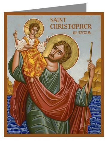 Custom Text Note Card - St. Christopher by J. Cole