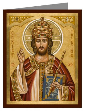 Custom Text Note Card - Christ the King by J. Cole