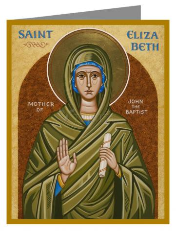 Custom Text Note Card - St. Elizabeth, Mother of John the Baptizer by J. Cole