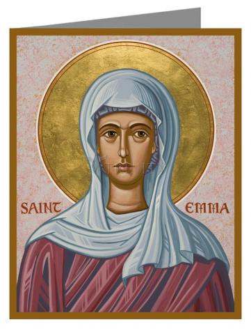 Custom Text Note Card - St. Emma by J. Cole