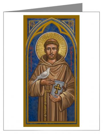 Custom Text Note Card - St. Francis of Assisi by J. Cole