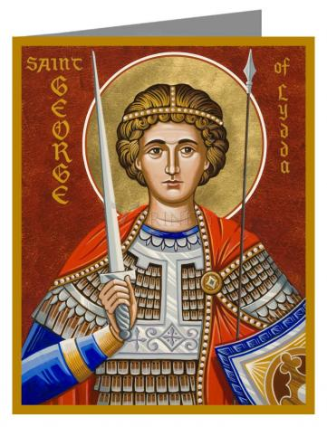 Custom Text Note Card - St. George of Lydda by J. Cole