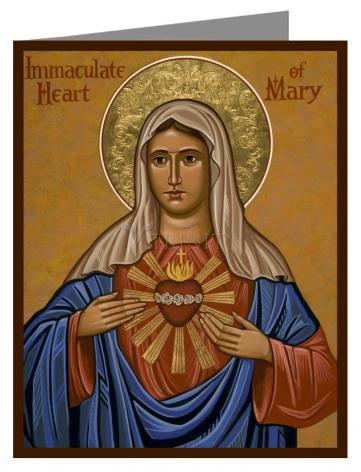 Custom Text Note Card - Immaculate Heart of Mary by J. Cole
