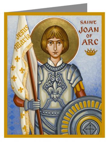 Custom Text Note Card - St. Joan of Arc by J. Cole