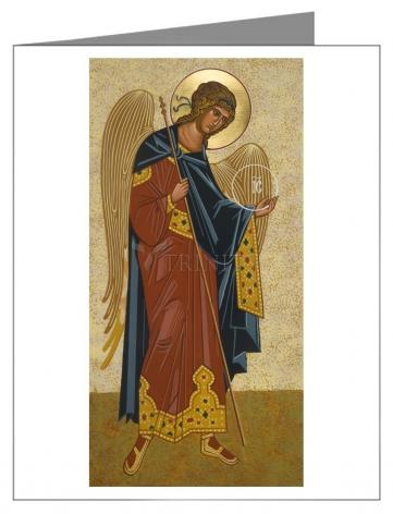 Custom Text Note Card - St. Michael Archangel by J. Cole