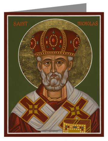 Custom Text Note Card - St. Nicholas by J. Cole