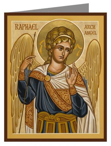 Custom Text Note Card - St. Raphael Archangel by J. Cole