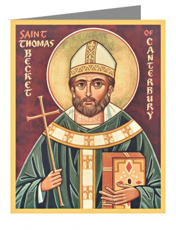 Custom Text Note Card - St. Thomas Becket by J. Cole