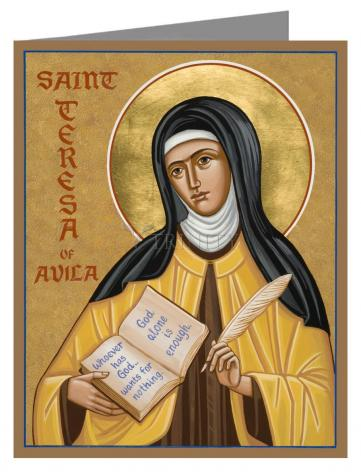 Custom Text Note Card - St. Teresa of Avila by J. Cole