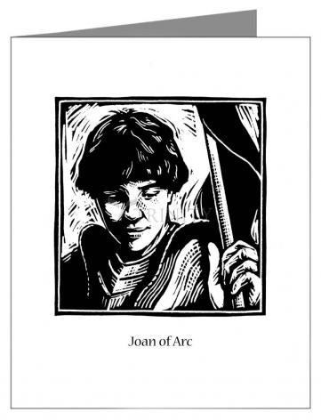 Custom Text Note Card - St. Joan of Arc by J. Lonneman