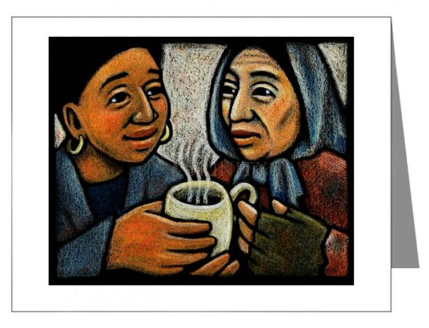 Custom Text Note Card - Blessed Are the Poor by J. Lonneman