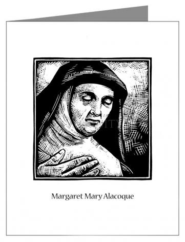 Custom Text Note Card - St. Margaret Mary Alacoque by J. Lonneman