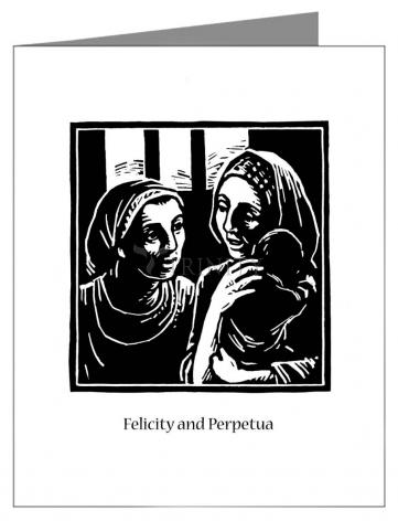 Custom Text Note Card - Sts. Felicity and Perpetua by J. Lonneman