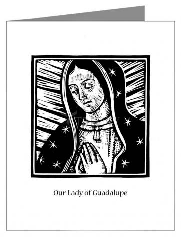 Custom Text Note Card - Our Lady of Guadalupe by J. Lonneman