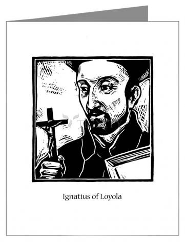 Custom Text Note Card - St. Ignatius by J. Lonneman