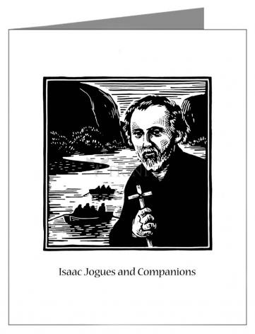 Custom Text Note Card - St. Isaac Jogues and Companions by J. Lonneman