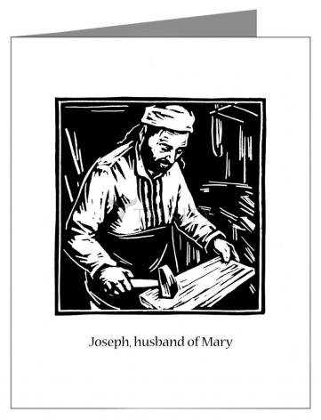 Custom Text Note Card - St. Joseph, husband of Mary by J. Lonneman