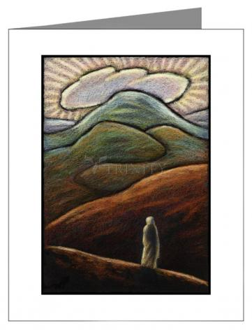 Custom Text Note Card - Lent, 1st Sunday - Jesus in the Desert by J. Lonneman