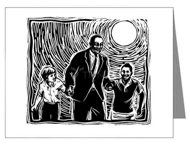 Custom Text Note Card - Martin Luther King's Dream by J. Lonneman