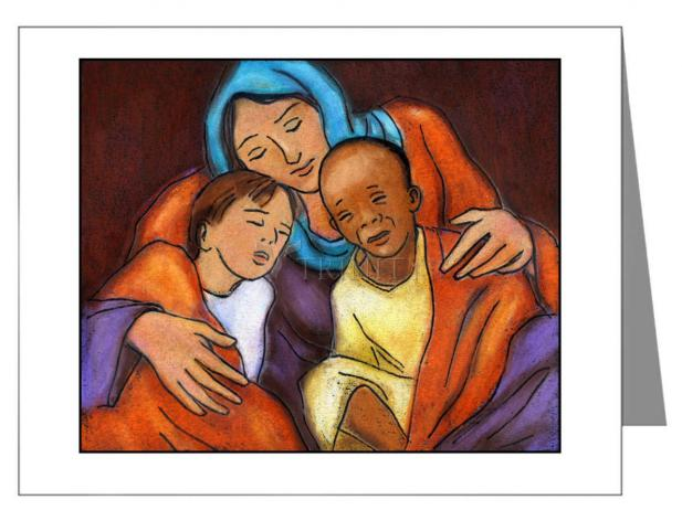 Custom Text Note Card - Mother of Mercy by J. Lonneman