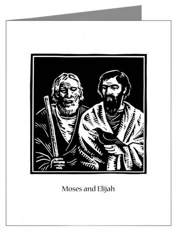 Custom Text Note Card - Moses and Elijah by J. Lonneman