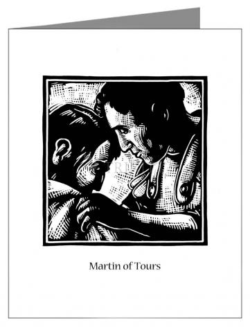Custom Text Note Card - St. Martin of Tours by J. Lonneman