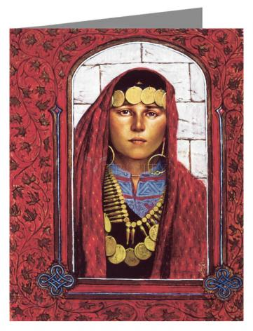 Custom Text Note Card - St. Mary Magdalene by L. Glanzman