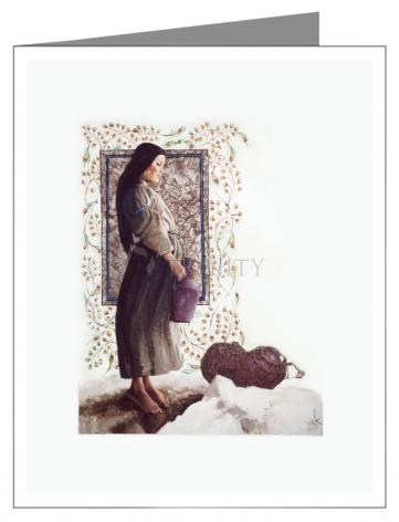 Custom Text Note Card - Samaritan Woman by L. Glanzman