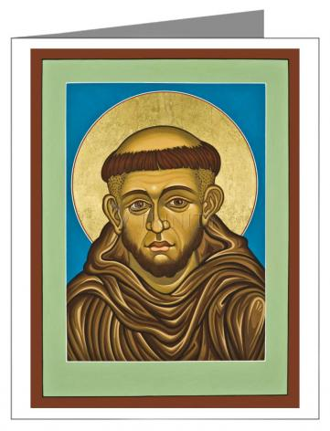 Custom Text Note Card - St. Francis of Assisi by L. Williams