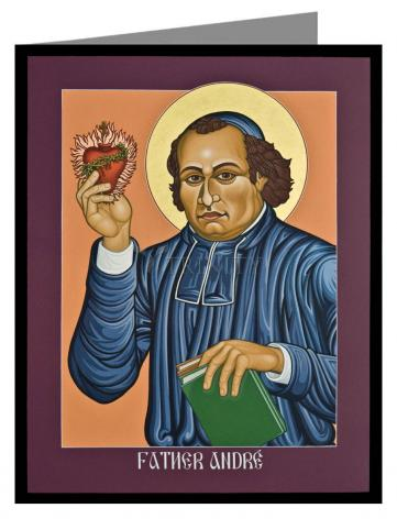 Custom Text Note Card - Fr. Andre' Coindre by L. Williams