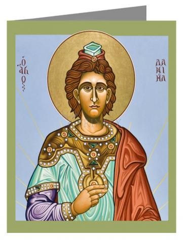 Custom Text Note Card - St. Daniel the Prophet by L. Williams