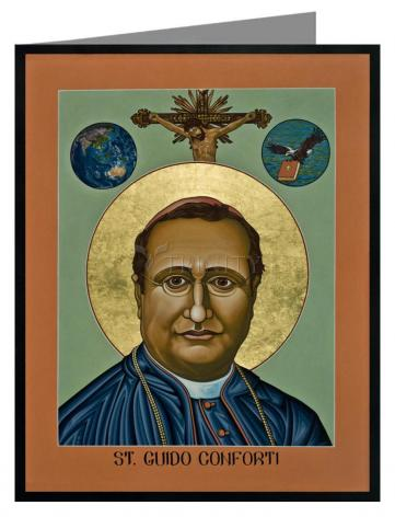 Custom Text Note Card - St. Guido Maria Conforti by L. Williams