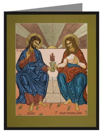 Custom Text Note Card - Jesus and Mary Magdalene by L. Williams