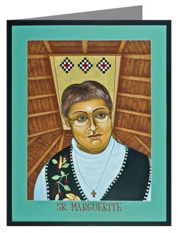 Custom Text Note Card - Sr. Marguerite Bartz by L. Williams