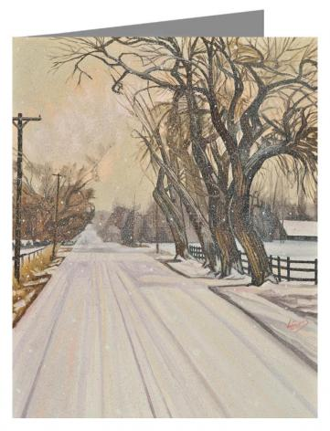 Custom Text Note Card - Christmas Scene: Montrose, CO by L. Williams