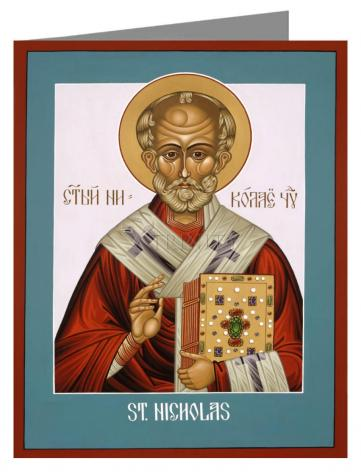Custom Text Note Card - St. Nicholas by L. Williams
