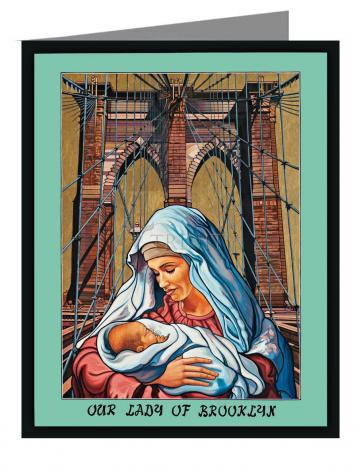 Custom Text Note Card - Our Lady of Brooklyn by L. Williams