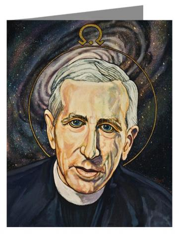 Custom Text Note Card - Fr. Pierre Teilhard de Chardin by L. Williams
