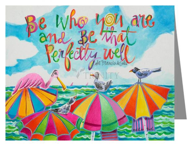 Custom Text Note Card - Be Who You Are by M. McGrath