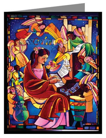 Custom Text Note Card - St. Cecilia by M. McGrath