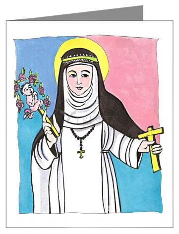 Custom Text Note Card - St. Catherine of Siena by M. McGrath
