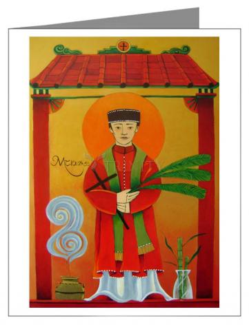 Custom Text Note Card - St. Andrew Dung-Lac by M. McGrath