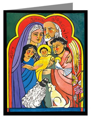 Custom Text Note Card - Extended Holy Family by M. McGrath