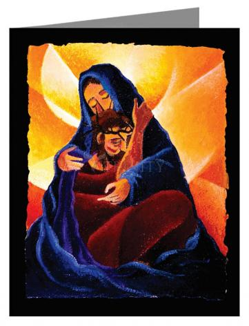 Custom Text Note Card - 4th Station, Jesus Meets His Mother by M. McGrath