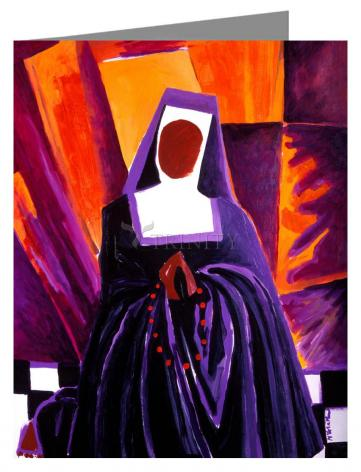 Custom Text Note Card - Sr. Thea Bowman: Give Me That Old Time Religion by M. McGrath