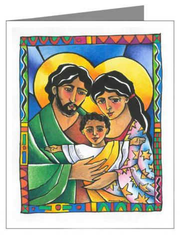 Custom Text Note Card - Holy Family by M. McGrath