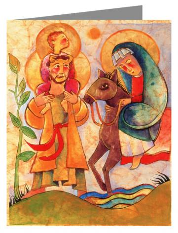 Custom Text Note Card - Holy Family: Giotto by M. McGrath