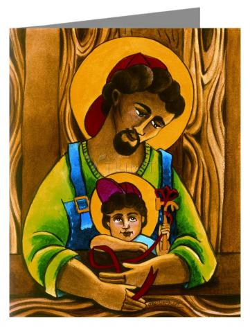 Custom Text Note Card - St. Joseph and Son by M. McGrath