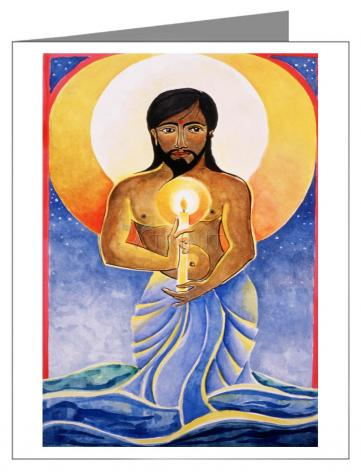 Custom Text Note Card - Jesus: Light of the World by M. McGrath