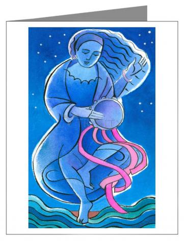 Custom Text Note Card - St. Miriam Dancing in Darkness by M. McGrath